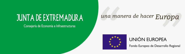 cofinanciación Junta extremadura & Unión Europea