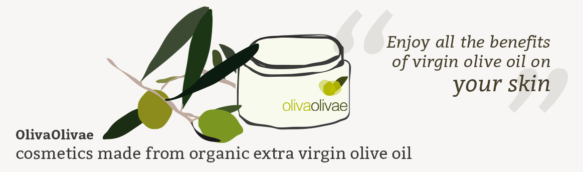 OlivaOlivae Cosmetics made from organic extra virgin olive oil